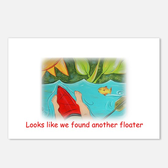 One Floating Postcards (Package of 8)
