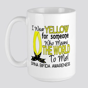Spina Bifida MeansWorldToMe1 Large Mug
