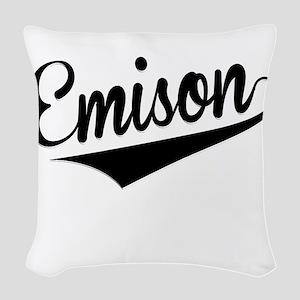 Emison, Retro, Woven Throw Pillow