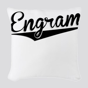Engram, Retro, Woven Throw Pillow