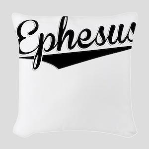 Ephesus, Retro, Woven Throw Pillow