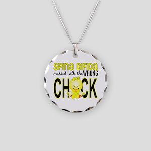 Spina Bifida WrongChick1 Necklace Circle Charm