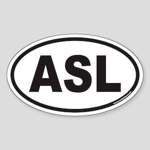 ASL Euro Oval Sticker