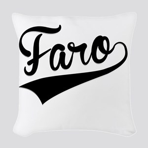 Faro, Retro, Woven Throw Pillow