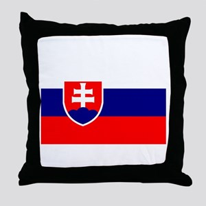Slovakia Flag Throw Pillow
