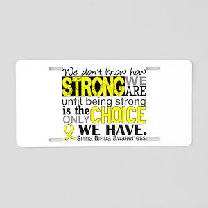 Spina Bifida HowStrongWeAre Aluminum License Plate