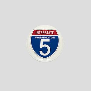 I-5 Washington Mini Button