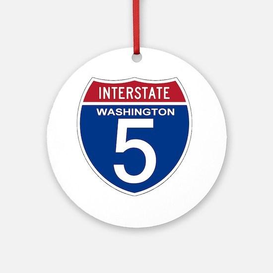 I-5 Washington Ornament (Round)