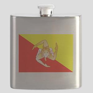 Sicily Flag Flask