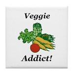Veggie Addict Tile Coaster
