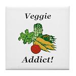 Veggie Addict Tile Coaster