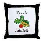 Veggie Addict Throw Pillow