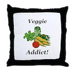 Veggie Addict Throw Pillow