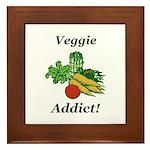 Veggie Addict Framed Tile
