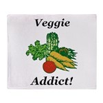 Veggie Addict Throw Blanket
