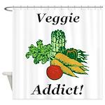 Veggie Addict Shower Curtain