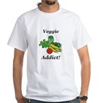 Veggie Addict White T-Shirt