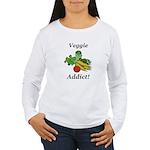 Veggie Addict Women's Long Sleeve T-Shirt