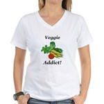 Veggie Addict Women's V-Neck T-Shirt