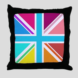 Union Jack Multicolour Square Design Throw Pillow