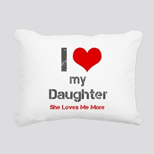 I Love My Daughter Rectangular Canvas Pillow