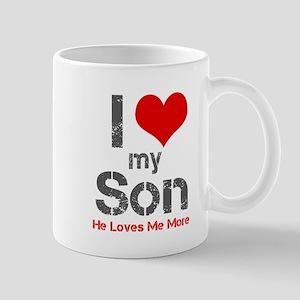 I Love My Son Mugs