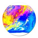 Beautiful weather Round Car Magnet