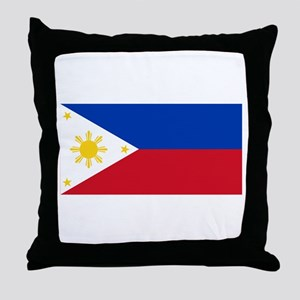 Philippines Flag Throw Pillow