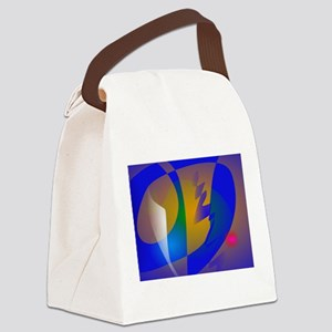 Striking Blue Abstract Art Canvas Lunch Bag
