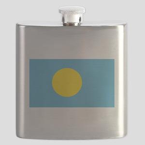 Palau Flag Flask