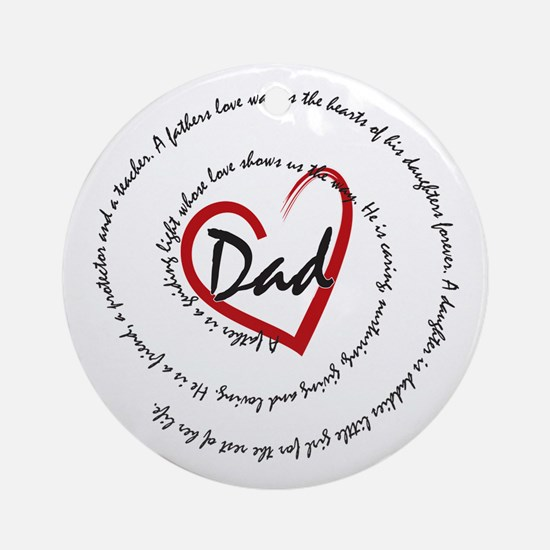 Fathers Day Dad Ornament (Round)