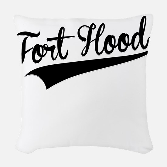 Fort Hood, Retro, Woven Throw Pillow