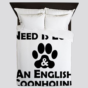 Love And An English Coonhound Queen Duvet