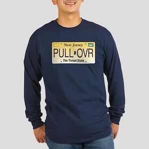 Pull Over Long Sleeve Dark T-Shirt