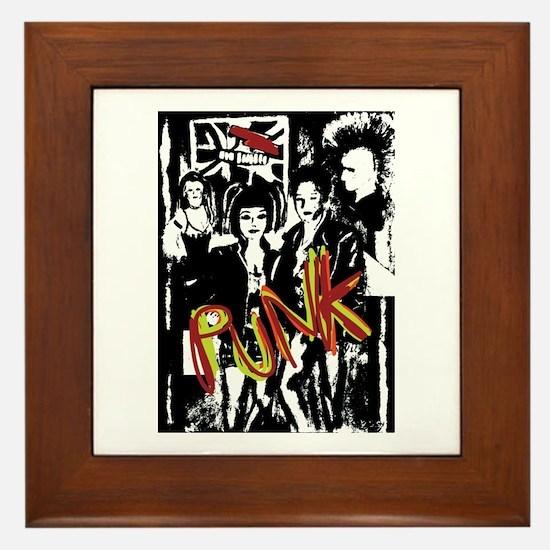 Punk Rock Music Fashion Art And Design Framed Tile