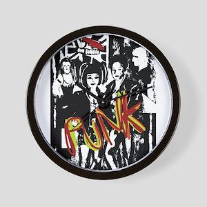Punk Rock music fashion art and design Wall Clock