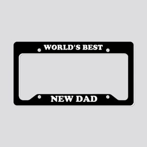 World's Best Dad License Plate Holder