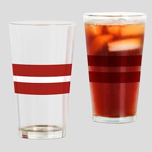 Latvia Flag Drinking Glass