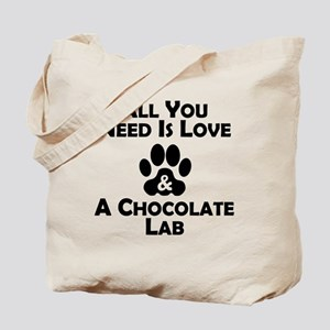 Love And A Chocolate Lab Tote Bag