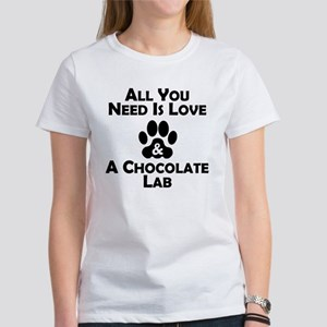 Love And A Chocolate Lab T-Shirt