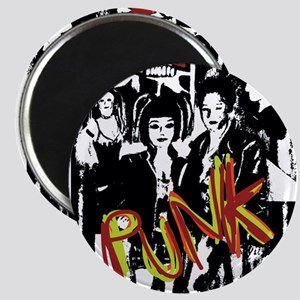 Punk Rock music fashion art and design Magnets