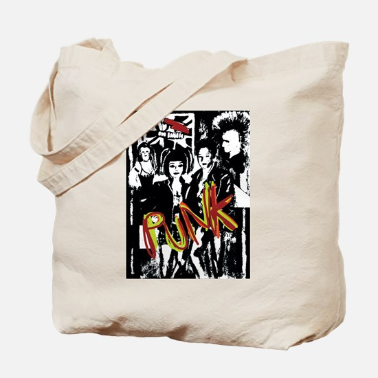Punk Rock music fashion art and design Tote Bag