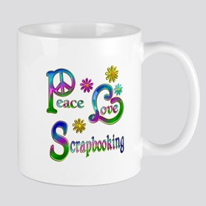 Peace Love Scrapbooking Mug