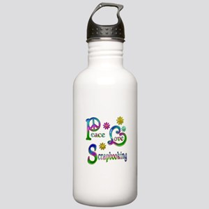 Peace Love Scrapbookin Stainless Water Bottle 1.0L