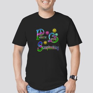Peace Love Scrapbookin Men's Fitted T-Shirt (dark)