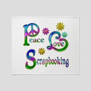 Peace Love Scrapbooking Throw Blanket