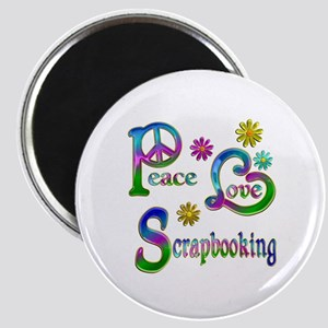 Peace Love Scrapbooking Magnet