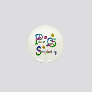 Peace Love Scrapbooking Mini Button