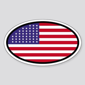 Star Spangled Oval Oval Sticker