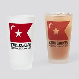 SC Secession Flag Drinking Glass